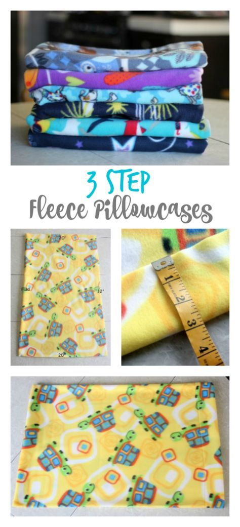 These 3 step fleece pillowcases are super simple to whip up. Perfect for a novice at sewing and the perfect beginning sewing project for kids! I made fleece pillow cases for my kids a few months ag…