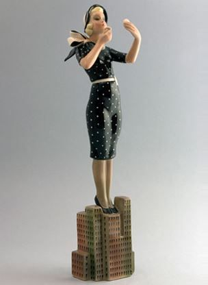 Lenci modern girl figurine
