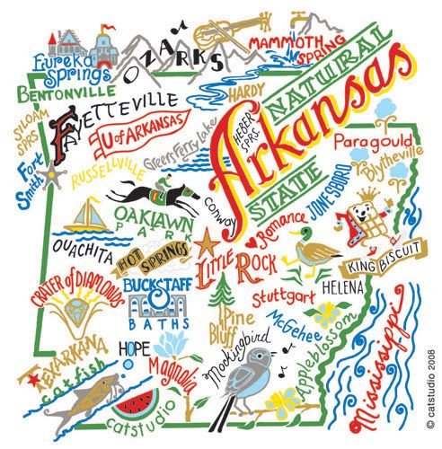 : Sweet, State Maps, Hog, Place, Arkansas Adventure