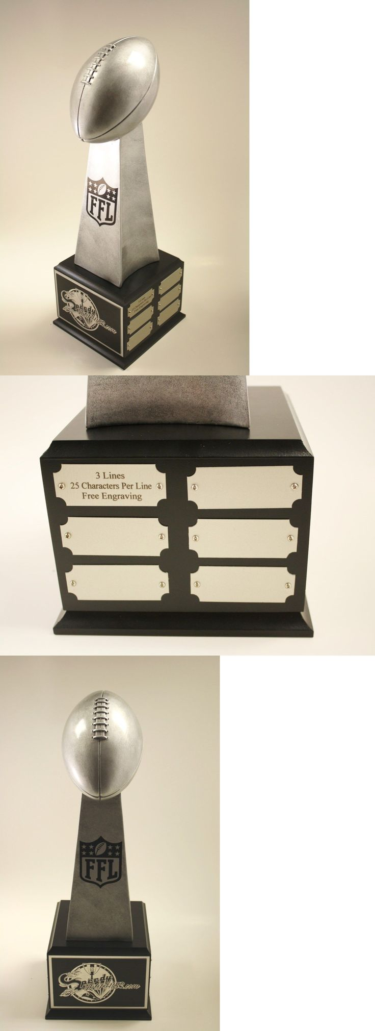 Other Football 2024: Fantasy Football Trophy 19 18 Year Lombardi- Free Engraving! Ships In 1 Day! BUY IT NOW ONLY: $73.99