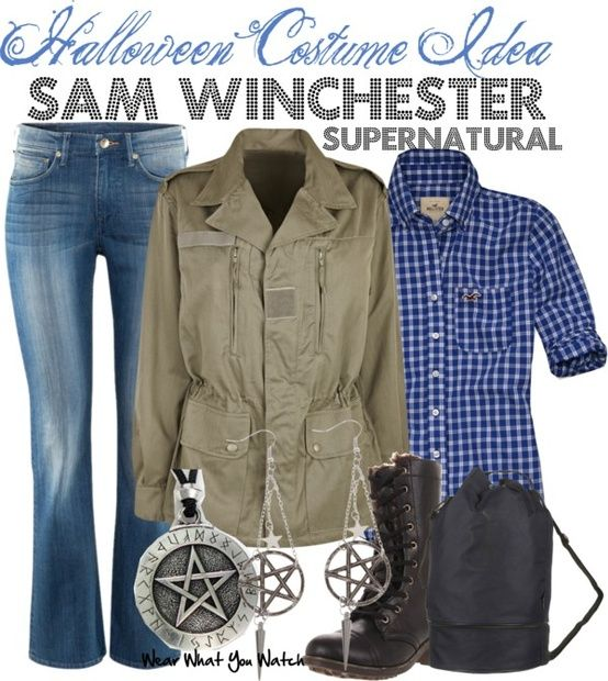 "Supernatural women's sam outfit | Costume Idea - Jared Padalecki as Sam Winchester on ""Supernatural ..."