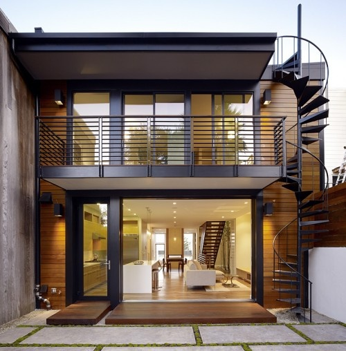 Best Nice Modern House I Love The Spiral Staircase On The 640 x 480