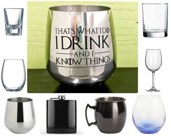 Choose your Glass with Game of Thrones Quote  by IntegrityArt