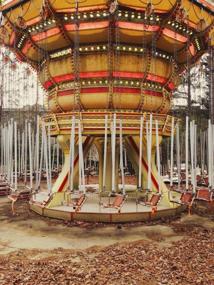Abandoned Amusement Park American Adventures Next To