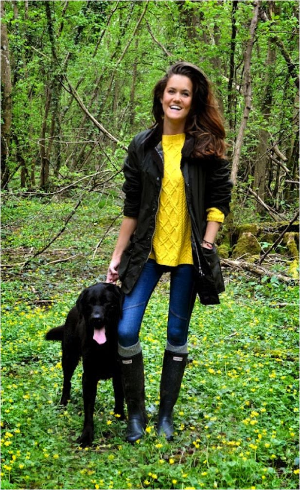 Barbour, Hunter Wellies, and Preppy Pup - Sloane Ranger Country Weekend Essentials