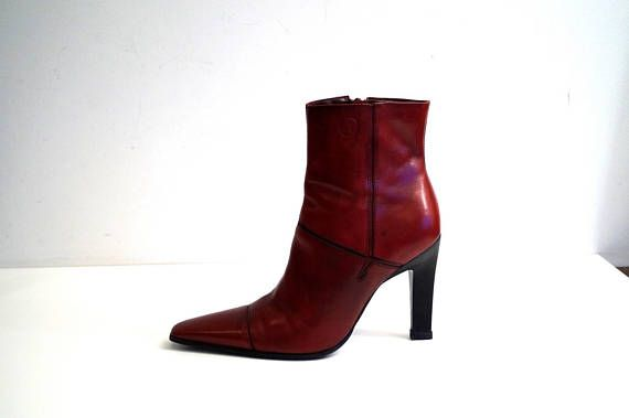 a1ad04d4cd940 BRONX ankle boots Eu 37 Uk 4 US 6.5 Red genuine leather womens boots ...