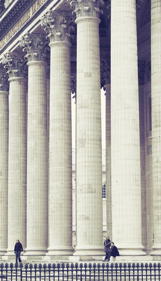 gigantic pillars..