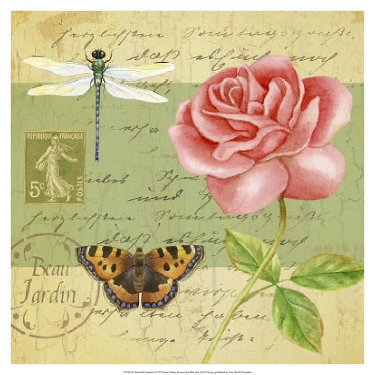 Flores y letras para decoupage aprender manualidades es - Laminas y posters madrid ...