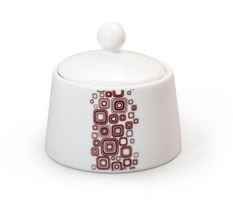 Zuccheriera Q-Deco Zuccheriera collezione Q-Deco, ispirata all'Art-Decò.  In porcellana liscia bianca dipinta a mano.  Capacità: 200ml  E' possibile lavarla in lavastoviglie ed è resistente al forno a microonde.   #aurile #FMGroup #FMGroupItalia #artdeco #teatime #tè #the #coffee #caffè #coffeebreak