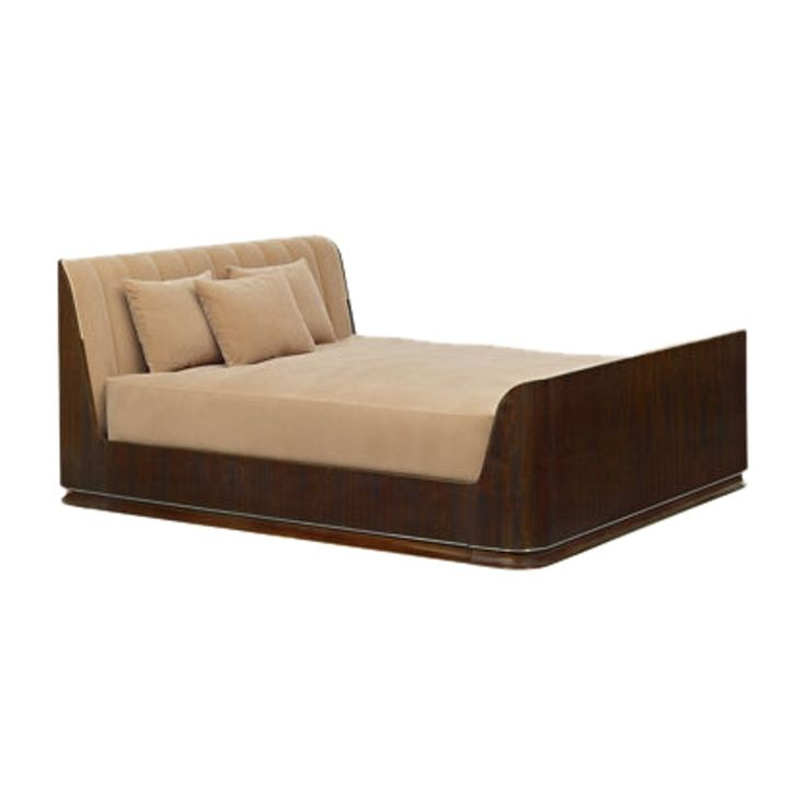 Modern Metropolis Bed  Art Deco, Contemporary, Upholstery  Fabric, Wood, Bed by Ralph Lauren Home