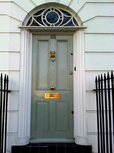 London Front Door Blue Gray London Front Doors
