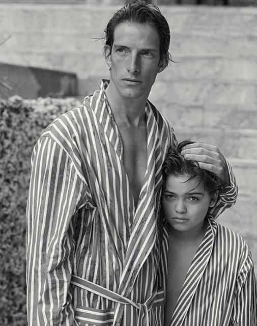 Ivan de Pineda and Felix Lowenstein. Photograph by Bruce Weber for Holiday…
