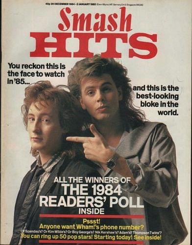 John Taylor (Duran Duran) with Julian Lennon - Smash Hits December 1984