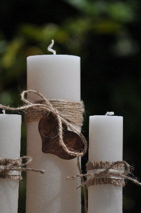 Personalized Rustic Unity Candle Set by BeaconHillCandles on Etsy, $40.00