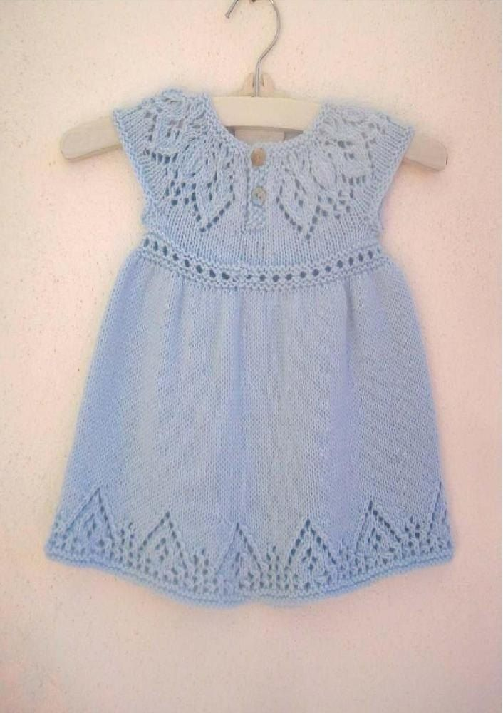 A gorgeous baby & girls dress knit seamlessly in the round from the top down. With a cute back button fastening to make for easy dressing. This delightful dress is also available along with 2 other pretty dresses in The Little Angel Dress Collection E-book.This pattern includes the instructions to knit the dress in 7 sizes from Preemie to 6 years and also includes 3 different sleeve options: Cap sleeved (pictured), short sleeved and long sleeved making this a great value pattern to suit a...