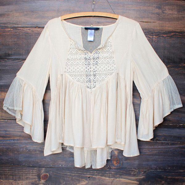 dreamy flowy peasant top boho chic bohemian blouse shirt from shophearts.com