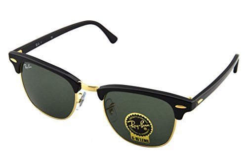 ray ban rb3016 classic clubmaster sunglasses  ray ban rb3016 classic clubmaster sunglasses, non polarized, ebony/arista frame/crystal green lens, 49 mm ray ban http://amazon/dp/b001gnbj\u2026