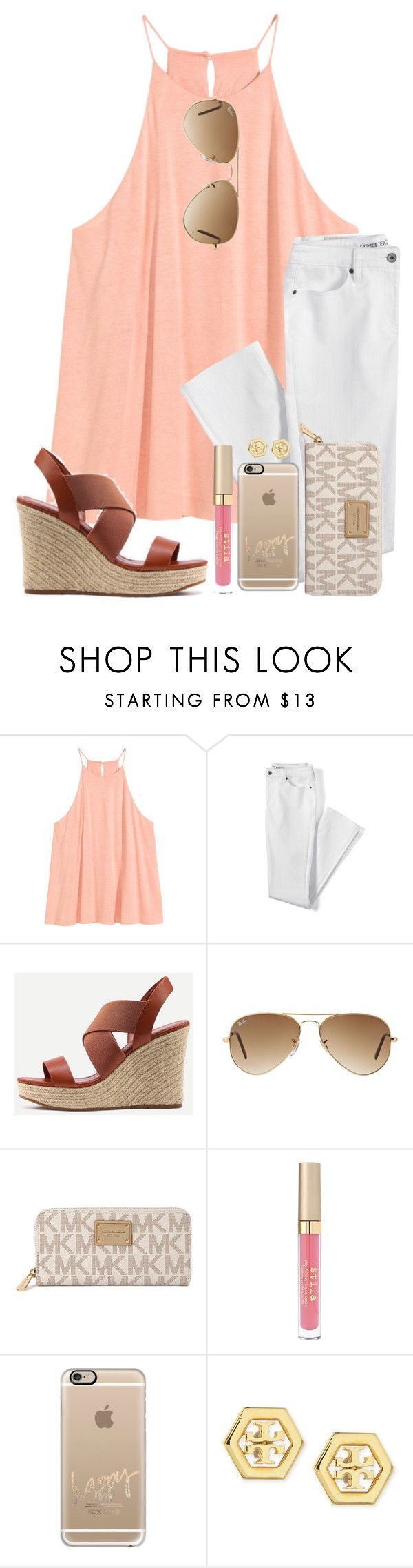 """""""Staying Up And Singing/Yelling Let It Go With Little Kids Is Fun"""" by twaayy ❤ liked on Polyvore featuring Lands' End, Ray-Ban, Michael Kors, Stila, Casetify and Tory Burch"""