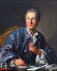 Denis Diderot, né le 5 octobre 1713 à Langres et mort le 31 juillet 1784 à Paris, est un écrivain, philosophe et encyclopédiste français. Diderot est reconnu pour son érudition, son esprit critique et un certain génie. Il laisse son empreinte dans l'histoire de tous les genres littéraires auxquels il s'est essayé : il pose les bases du drame bourgeois au théâtre, révolutionne le roman avec Jacques le Fataliste,