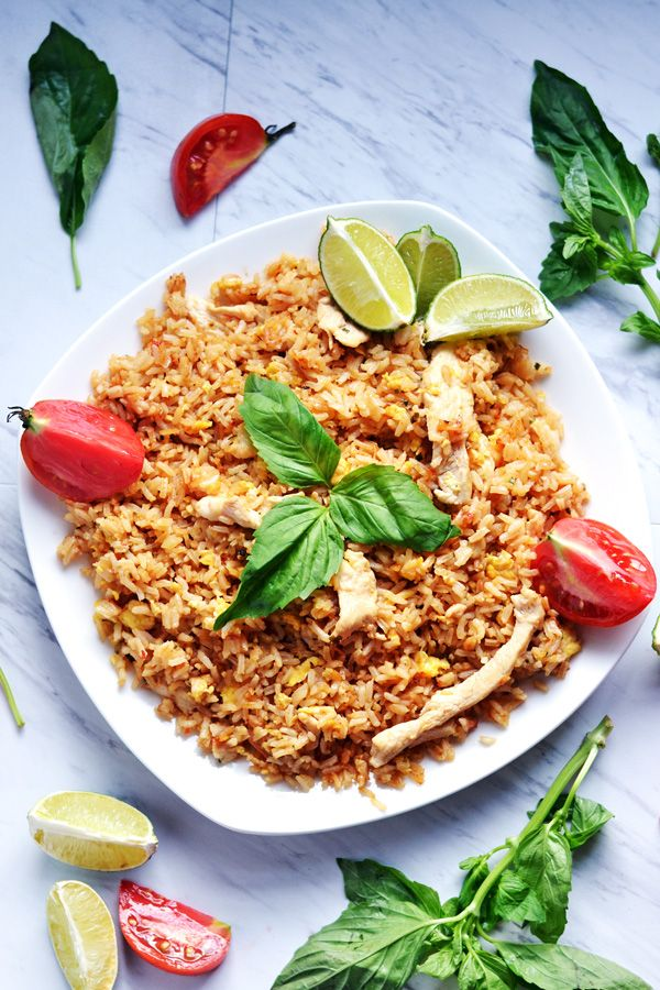 Thai Chicken Fried Rice Recipe Ambs Loves Food