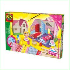 SES Build and Paint Dolls House - Green Ant Toys http://www.greenanttoys.com.au/shop-online/art-and-craft-toys-online-toy-store/craft-toys/build-and-decorate-dolls-house/