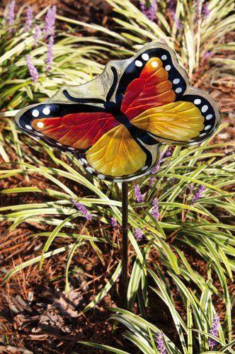 Monarch Butterfly Birdfeeder With Garden Stake Evergreen  Http://www.amazon.com