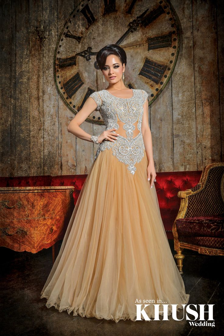 Get your gown on! elegant dress by Fusion Asian Bridal ILFORD STORE 194 Ilford Lane Ilford, Essex IG1 2LJ T: 0208 553 4605 ilfordstore@fusionasianbridal.co.uk LONDON STORE 117 Green Street Forest Gate, London E7 8JF T: 0208 552 5577 greenstreetstore@fusionasianbridal.co.uk Hair: Shamalah Makeup: Shahnaz Islam Earrings: Vintage Bridal Jewellery Ring: Passionate About Vintage Bracelet: Richard Designs