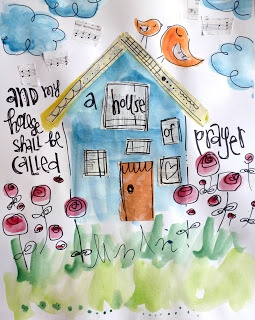 Art by Erin Leigh: 31 Days of Scripture Art Journaling:: Day 6: Playing With Paper