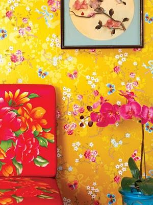 wallpaper - makes me think of a Matisse painting!