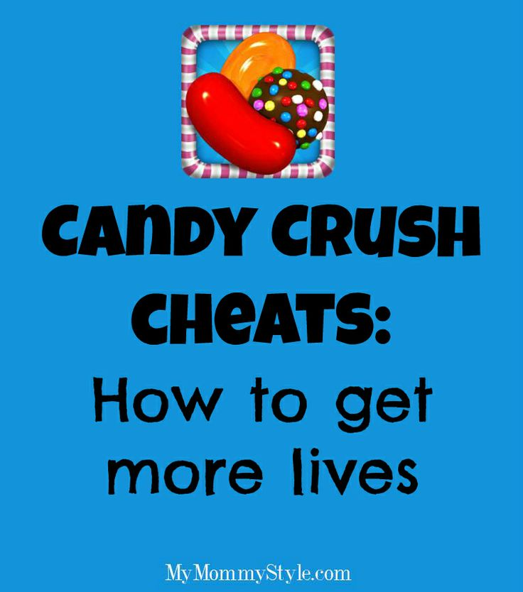 Candy Crush Cheats: how to get more lives. @Bekah Johnson this is for you!!