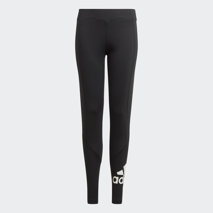 With an active lifestyle, movement comes in many different forms. From morning runs to after-school yoga sessions to evenings with friends, stay ready for anything in these juniors' tights. Feel dry and comfortable throughout your day, thanks to moisture-absorbing AEROREADY technology. Keep your look on point with the adidas Badge of Sport.This product is made with Primegreen, a series of high-performance recycled materials. Adidas Logo, Quoi Qu'il Arrive, Tights, Leggings, Morning Running, Yoga Session, Junior, Adidas Women, Recycling