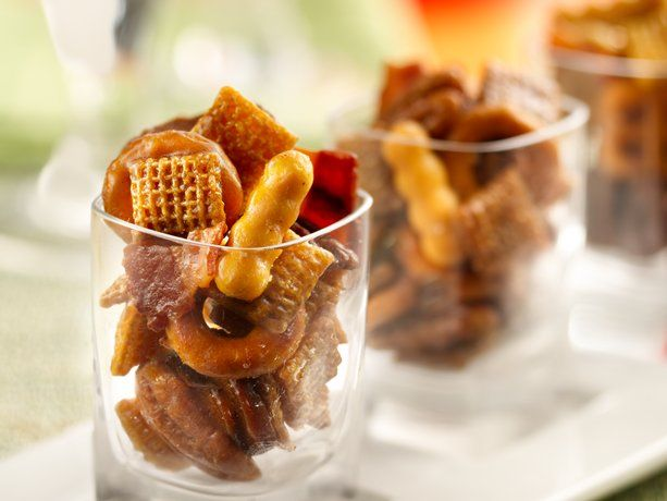 Kentucky Bourbon Bacon Chex Mix® via @BettyCrocker: Kentucky Bourbon, Chexmix, Bacon Chex, Recipe, Snack Mixes, Bourbon Bacon, Food, Chex Mix, Kentucky Derby