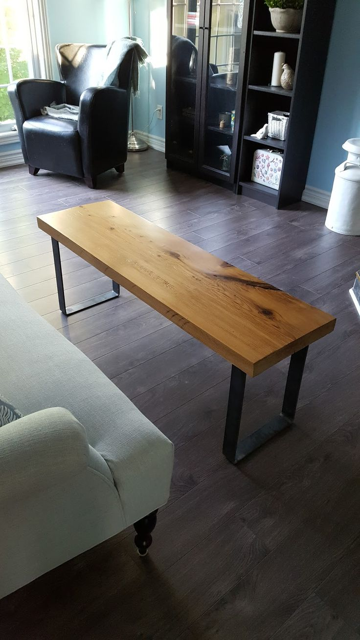 Yellow Cottage Furniture: Rustic Industrial Reclaimed Barn Wood Bench
