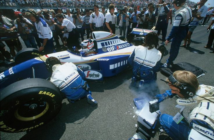 Nigel Ernest James Mansell (GBR) (Rothmans Williams Renault), Williams FW16 - Renault RS6 3.5 V10 (RET) 1994 French Grand Prix, Circuit de Nevers Magny-Cours © Williams Grand Prix Engineering Ltd.