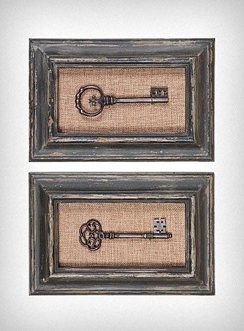 Antiqued key shadow box. Love this!