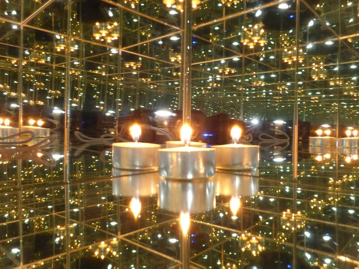Candels in mirrored room