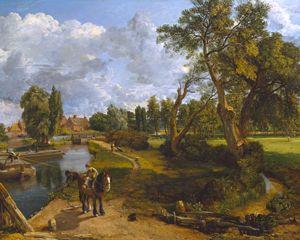 """John Constable,  """"Flatford Mill ('Scene on a Navigable River')"""", 1816-17"""
