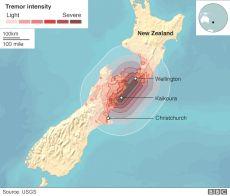 Info zum 7.5 Erdbeben bei Kaikoura (Neuseeland) vom 14. November 2016