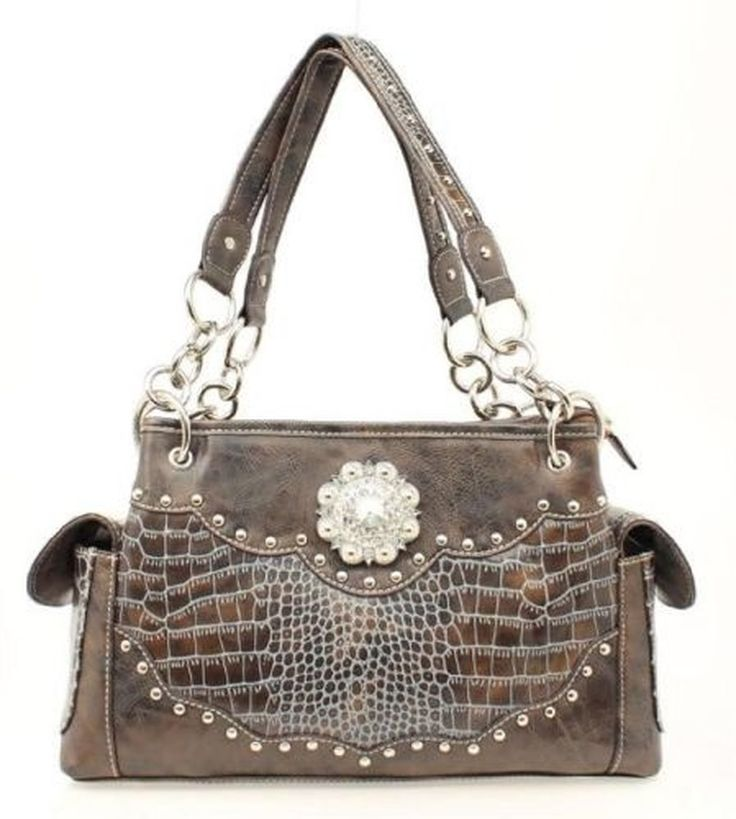 top handle bags: Blazin Roxx Women's Croc Print Faux Leather Studded Conceal And Carry Satchel Blue One Size ||| ||| ||| Blazin Roxx Women's Croc Print Faux Leather Studded Conceal And Carry Satchel Blue One Size :top handle bags