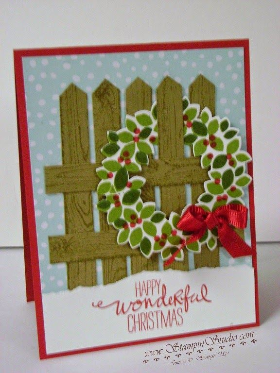 Stampin' Studio: Wreath on a Fence - Stampin' Up! Christmas