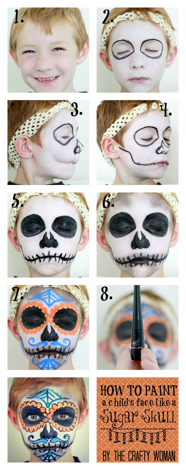 """How to Paint a Face: Sugar Skull for Dia De Los Muertos - If you are not a """"DIY""""…"""