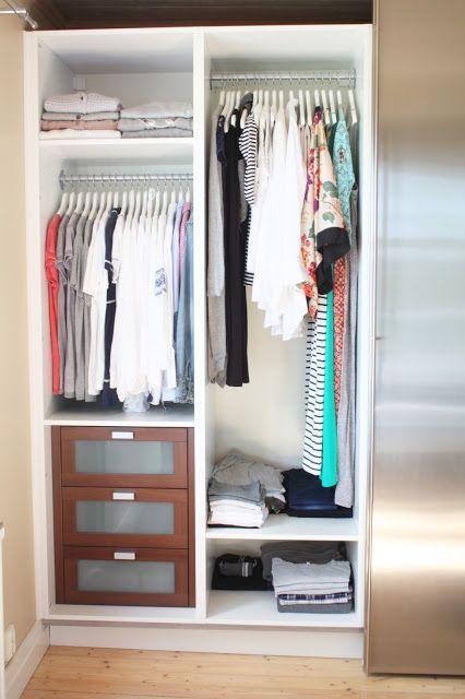 KOMMA HEM...: Garderoben Sista delen- Så här blev det...