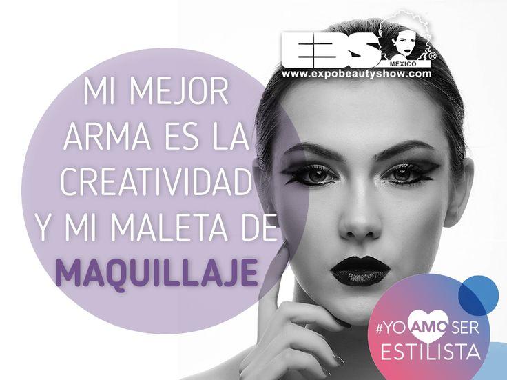 Mi mejor arma es la creatividad y mi maleta de maquillaje.  #YoAmoSerEstilista #ExpoBeautyShow www.expobeautyshow.com