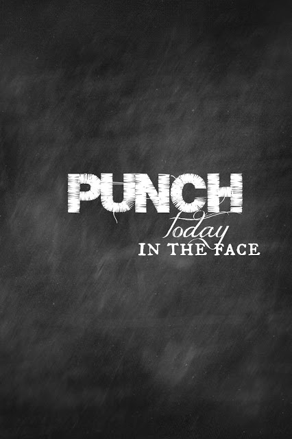 Punch today in the face, have to put this on a canvas.