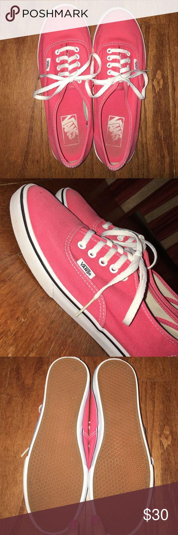 Pinky/Coral Vans • Women's 8// Men's 6.5 CUTE • Barely worn • Authentic Lo-Top Vans Vans Shoes Sneakers