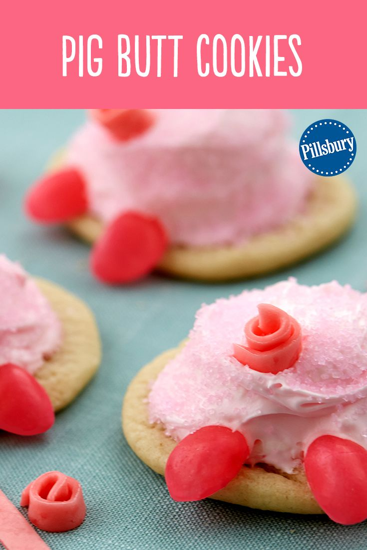 These pig butts are almost too cute to eat! Make some easy Pig Butt Cookies for Easter using Pillsbury refrigerated sugar cookie dough. This is a fun recipe idea for the kids to help decorate. You could even have them as dessert for your Easter get-together.