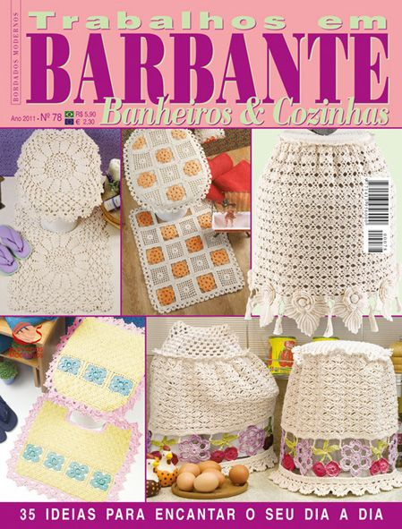 Trabalhos em Barbante nº 78: Books, Hook, Crochet Ideas, Decoration De, De Bain, Games Of, Bathroom, Room