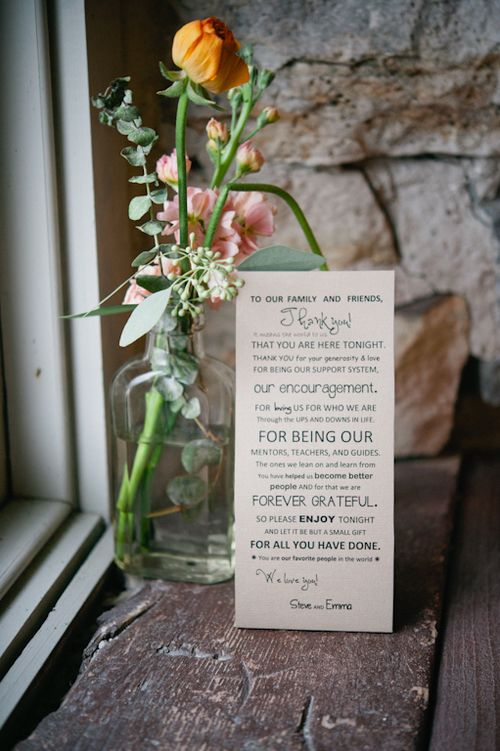 Beautiful and thoughtful little detail Perfectly Imperfect — Weddings Unveiled Image courtesy of AMB Photo; http://ambphoto.com