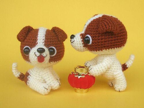 Crochet Pattern Jack Russell Dog : Jack Russell Terrier puppies, via Flickr. Amigurumis ...