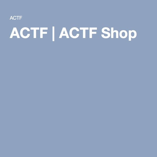 ACTF | ACTF Shop
